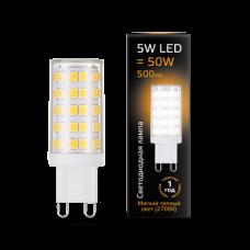 Лампа Gauss LED G9 AC185-265V 5W 2700K керамика 1/10/200