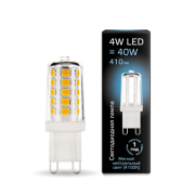 Лампа Gauss LED G9 AC185-265V 4W 4100K керамика 1/10/200