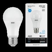 Лампа Gauss LED Elementary A60 20W E27 6500K 1/10/40