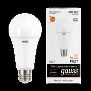 Лампа Gauss LED Elementary A67 25W E27 2700K 1/10/50
