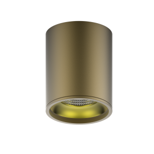 LED светильник накладной HD001 12W (кофе золото) 3000K 79x100мм 1/30