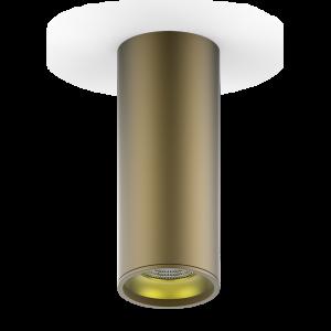 LED светильник накладной HD002 12W (кофе золото) 3000K 79x200мм 1/30