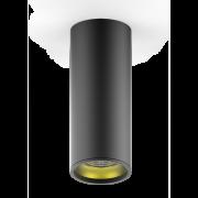 LED светильник накладной HD009 12W (черный золото) 3000K 79x200мм 1/30