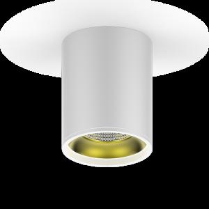 LED светильник накладной HD010 12W (белый золото) 3000K 79x100мм 1/30