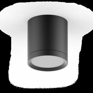 LED светильник накладной с рассеивателем HD014 6W (черный) 3000K 68х75мм 1/30