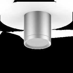 LED светильник накладной с рассеивателем HD018 6W (хром сатин) 3000K 68х75мм 1/30