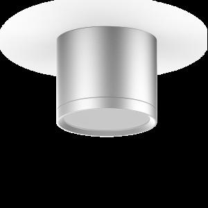 LED светильник накладной с рассеивателем HD021 10W (хром сатин) 3000K 88х75мм 1/30