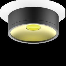 LED светильник накладной  HD027 17W (черный/золото) 3000K 140х50мм 1/30