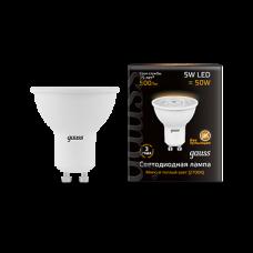 Лампа Gauss LED MR16 GU10 5W 2700K 1/10/100