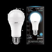 Лампа Gauss LED A60 globe 12W E27 4100K 1/10/40