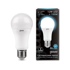 Лампа Gauss LED A60 globe 12W E27 4100K 1/10/40
