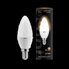 Лампа Gauss LED Candle E14 6.5W 2700К 1/10/50