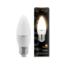 Лампа Gauss LED Candle E27 6.5W 2700К 1/10/50