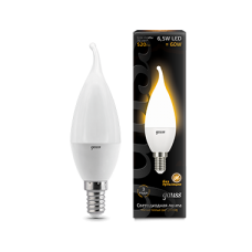 Лампа Gauss LED Candle tailed E14 6.5W 2700K 1/10/50