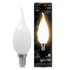 Лампа Gauss LED Filament Candle Tailed OPAL E14 5W 2700К 1/10/50