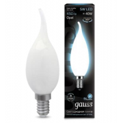 Лампа Gauss LED Filament Candle Tailed OPAL E14 5W 4100К 1/10/50