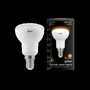 Лампа Gauss LED Reflector R50 E14 6W 2700K 1/10/50