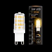 Лампа Gauss LED G9 AC185-265V 3W 2700K 1/20/200 диммируемая