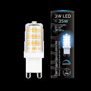 Лампа Gauss LED G9 AC185-265V 3W 4100K 1/20/200 диммируемая
