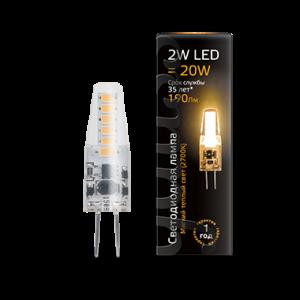 Лампа Gauss LED G4 AC220-240V 2W 2700K 1/20/200
