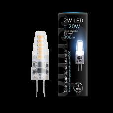 Лампа Gauss LED G4 AC220-240V 2W 4100K 1/20/200