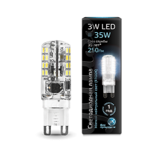 Лампа Gauss LED G9 AC150-265V 3W 4100K 1/20/200