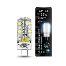 Лампа Gauss LED GY6.35 AC150-265V 3W 4100K 1/20/200