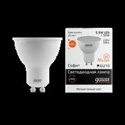 Лампа Gauss LED Elementary MR16 GU10 5.5W 2700К