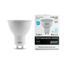 Лампа Gauss LED Elementary MR16 GU10 5.5W 4100К