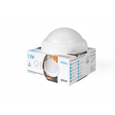 Светодиодный светильник Gauss круглый IP65 12W 4000K 1/12