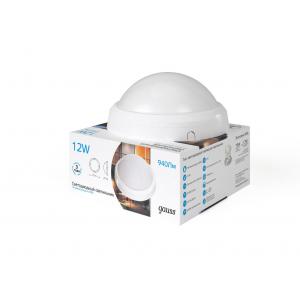 Светодиодный сенсорный светильник Gauss круглый IP65 12W 6500K 1/12