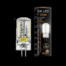 Лампа Gauss LED G4 12V 3W 2700K 1/20/200