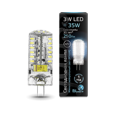 Лампа Gauss LED G4 12V 3W 4100K 1/20/200