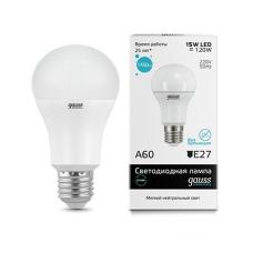 Лампа Gauss LED Elementary A60 15W E27 4100K 1/10/40