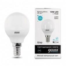 Gauss LED Elementary Globe 10W E14 4100K