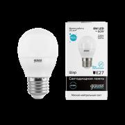 Лампа Gauss LED Elementary Globe 6W E27 4100K 1/10/50