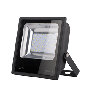 Прожектор светодиодный Gauss LED 150W IP65 6500К черный 1/4