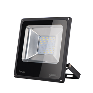 Прожектор светодиодный Gauss LED 70W IP65 6500К черный 1/6