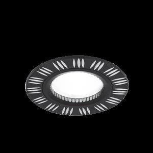 Светильник Gauss Aluminium AL018 Круг. Черный/Хром, Gu5.3 1/100