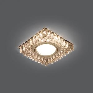 Светильник Gauss Backlight BL029 Квадрат. Кристал/Хром, Gu5.3, LED 2700K 1/40