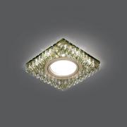 Светильник Gauss Backlight BL033 Квадрат. Шампань/Кристалл/Хром, Gu5.3, LED 2700K 1/40