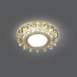 Светильник Gauss Backlight BL034 Кругл. Шампань/Кристалл/Хром, Gu5.3, LED 2700K 1/40