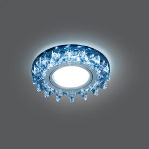 Светильник Gauss Backlight BL036 Кругл. Черный/Кристалл/Хром, Gu5.3, LED 4100K 1/40