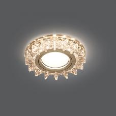 Светильник Gauss Backlight BL037 Кругл. Кристалл/Хром, Gu5.3, LED 2700K 1/40
