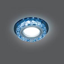 Светильник Gauss Backlight BL042 Кругл. Черный/Кристалл/Хром, Gu5.3, LED 4100K 1/40