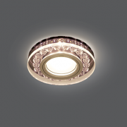 Светильник Gauss Backlight BL046 Кругл. Черный/Кристалл/Хром, Gu5.3, LED 2700K 1/40