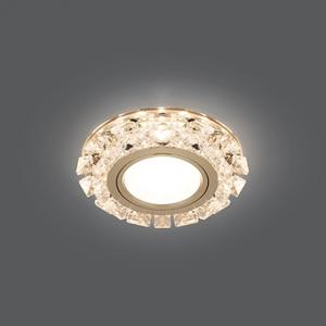 Светильник Gauss Backlight BL049 Кругл. Кристалл/Хром, Gu5.3, LED 2700K 1/40