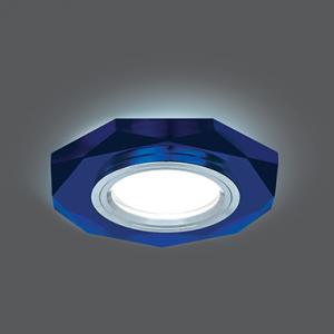 Светильник Gauss Backlight BL055 Восемь гран. Синий/Хром, Gu5.3, LED 4100K 1/40