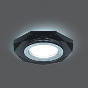 Светильник Gauss Backlight BL056 Восемь гран. Графит/Хром, Gu5.3, LED 4100K 1/40