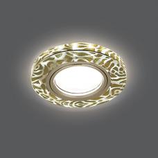 Светильник Gauss Backlight BL064 Кругл. Золотой узор/Золото, Gu5.3, LED 2700K 1/40